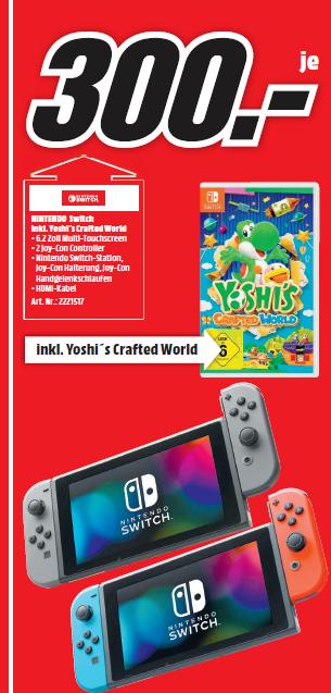 [Lokal: Media Markt Heppenheim - 31.03.19 von 13-18 Uhr] Nintendo Switch Konsole + Yoshi's Crafted World | Huawei Mate 10 Lite für 170€