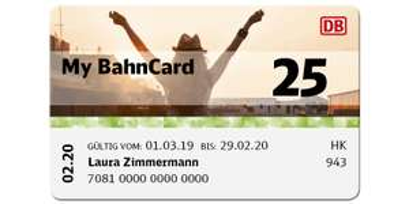 My BahnCard 25 jetzt günstiger! [April-Juli 2019]