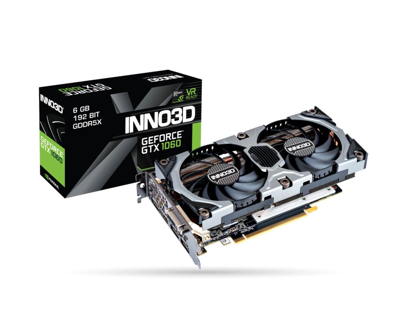 INNO3D GeForce GTX 1060 6GB GDDR5X Gaming OC Versandfrei und Fortnite Bundle