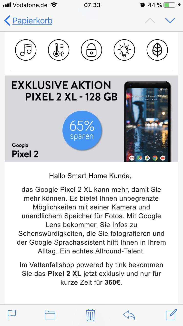 Tink für Vattenfall Kunden Google Pixel 2 XL 128GB