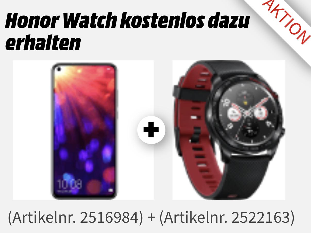 HONOR View 20 Smartphone 128GB Midnight Black o. Sapphire Blue + GRATIS Honor Watch Magic für zusammen 549€ bei Abholung [MediaMarkt/Saturn]