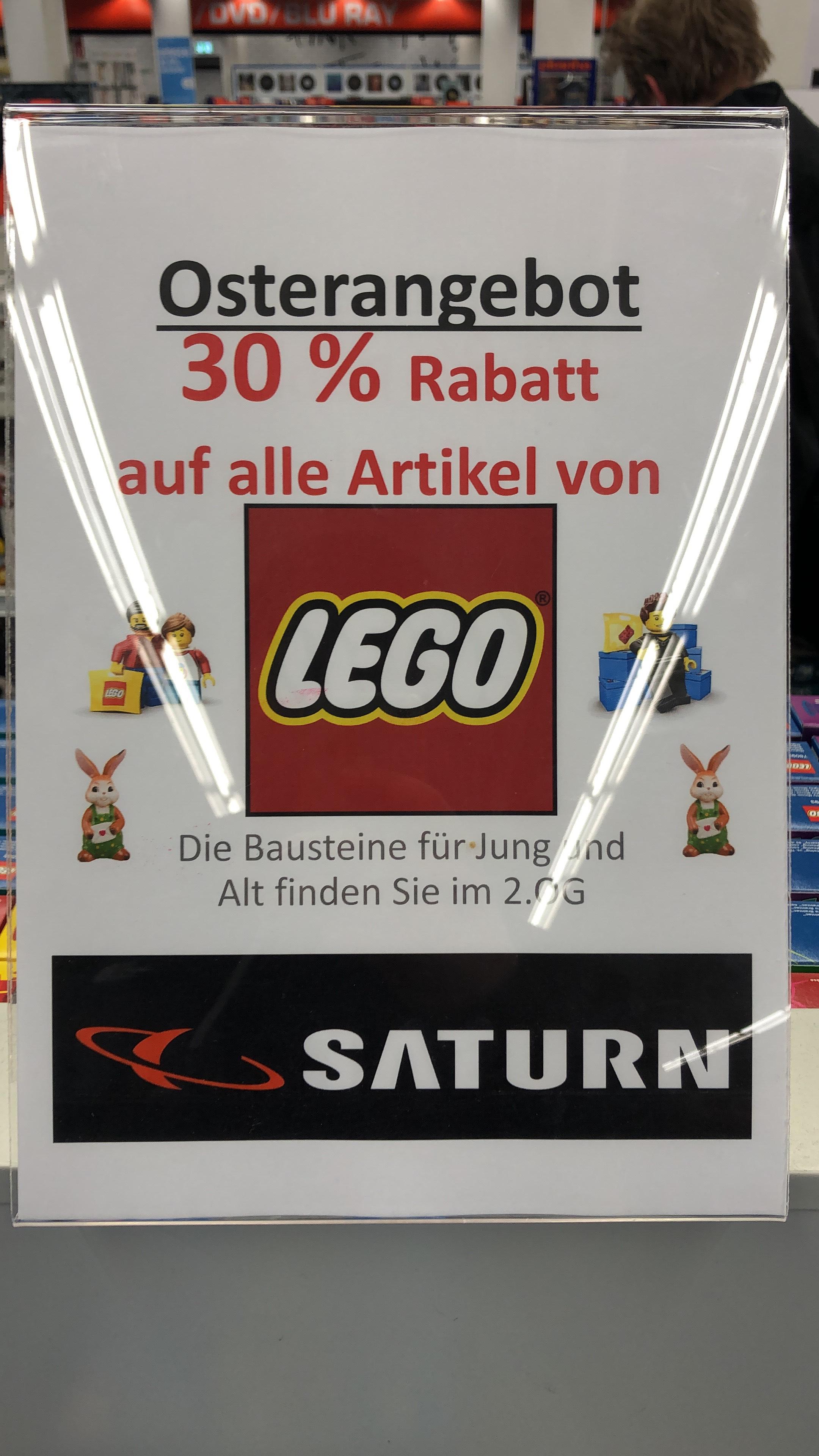 Saturn (lokal Mannheim?) 30% Rabatt auf alle Artikel von Lego