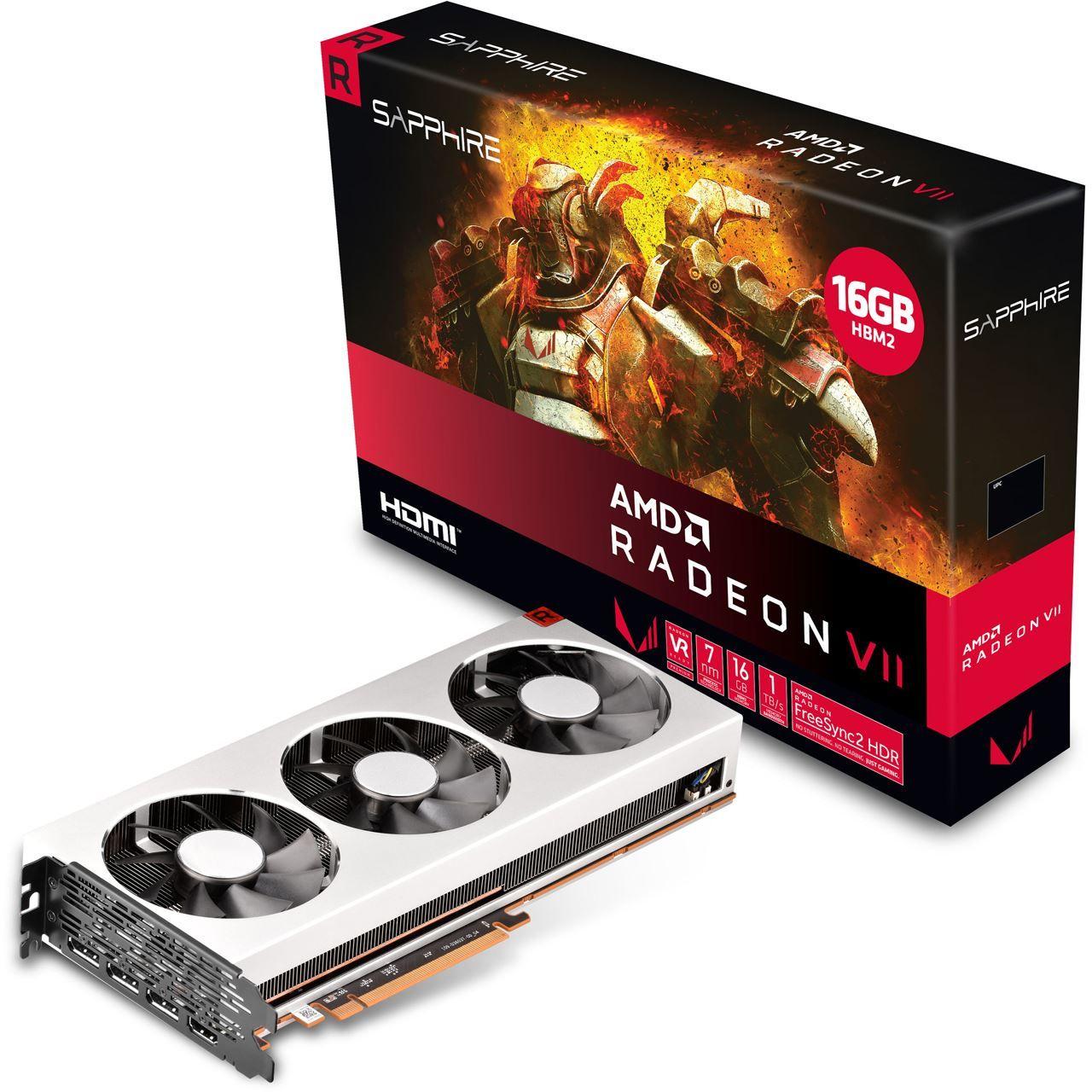 16GB Sapphire Radeon VII Aktiv PCIe 3.0 x16 (Full Retail)
