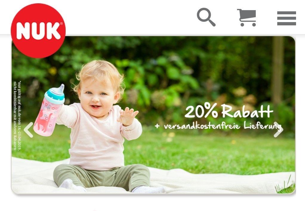 20% auf das gesamte Sortiment bei NUK + Versandkostenfreie Lieferung vom 18.04. bis 23.04.