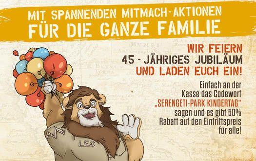 50% auf alle Tickets für den 06.07-07.07.19 im Serengeti-Park