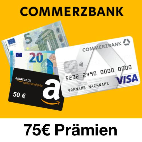 Commerzbank Prepaid Kreditkarte mit 75€ Prämien nur für die Eröffnung (ohne Schufa, im 1. Jahr kostenlos, für CoBa Neukunden (12 Monate))