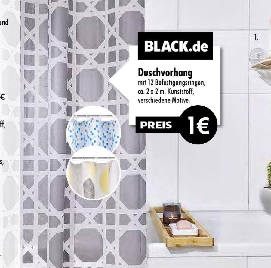 Duschvorhang 1€ 2x2m versch. Designs bei Tedi