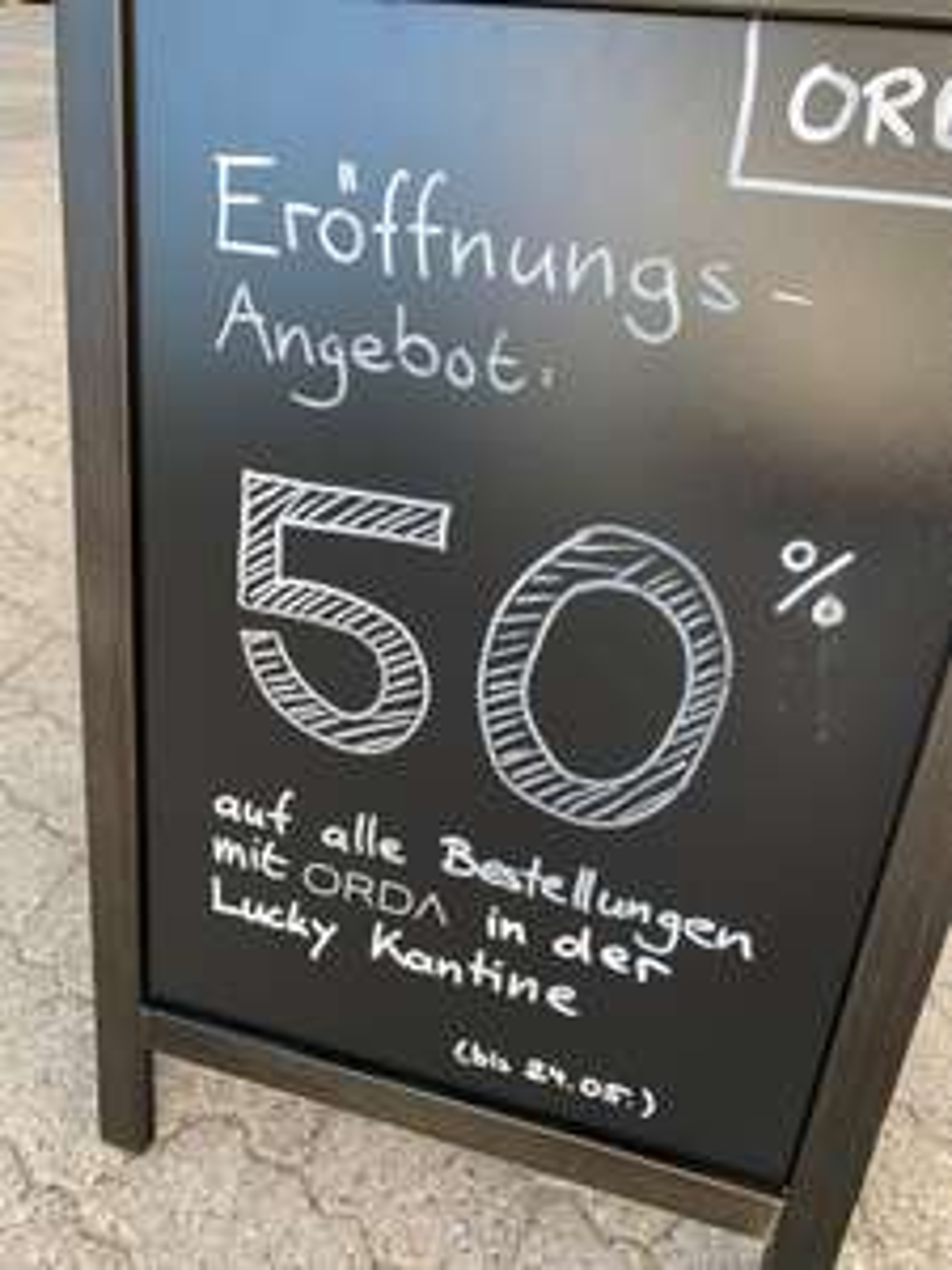 [Lokal München] 50% RABATT über ORDA bei Lucky Kantine (Lucky Who)