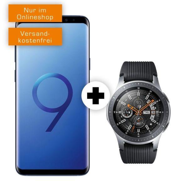 Samsung Galaxy S9+ und Watch 46mm BT im O2 Free M Boost (20GB LTE, Allnet/SMS) mtl. 34,99€ und einmalig 49€ [Ankauf 13,09€ mtl.]