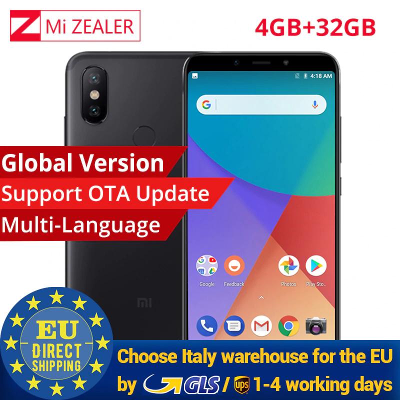 "Xiaomi Mi A2 Global 4+32GB - Snapdragon 660 - 6"" FHD - 20MP+12MP - Android One - Versand aus Italien"