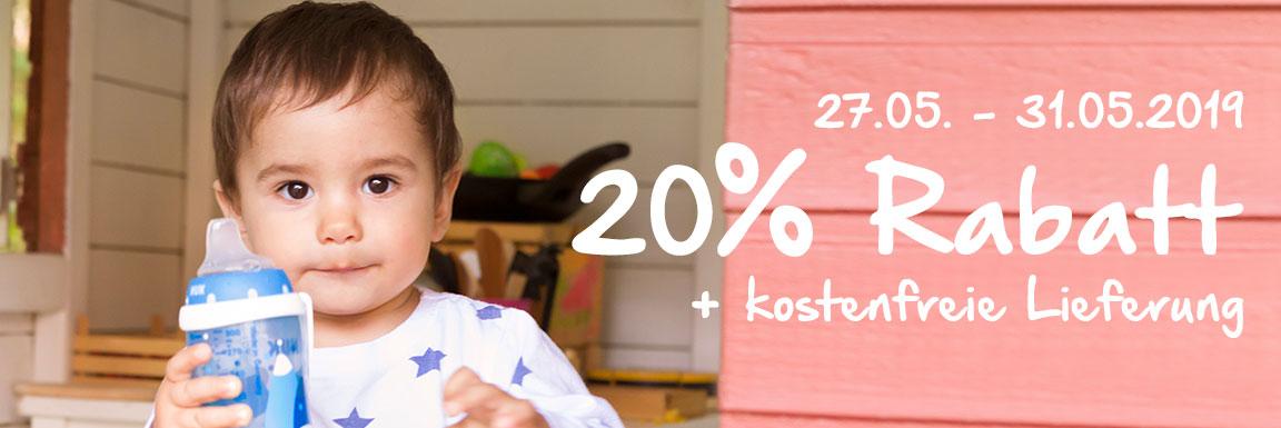 20% auf das gesamte Sortiment bei NUK + Versandkostenfreie Lieferung vom 27.05. bis 31.05.