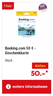 [Netto-MD] 50 € Booking.com Geschenkkarte mit 500 DeutschlandCard-Punkten