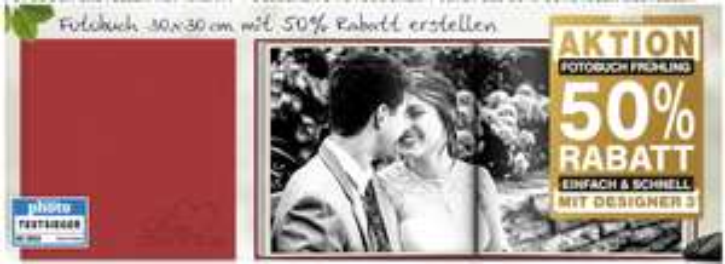 Fotobuch mit 50% Rabatt - diverse Formate