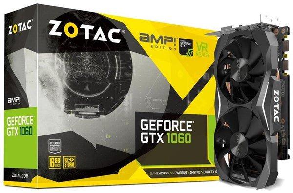 Zotac Grafikkarte GeForce GTX 1060 AMP! Edition (6GB GDDR5, Mid Range) [computeruniverse]