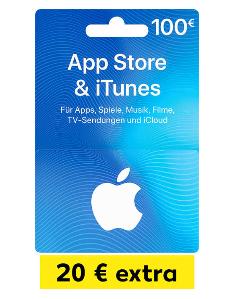 App Store & iTunes 100 Euro Geschenkkarte mit 20 Euro extra [Kaufland]
