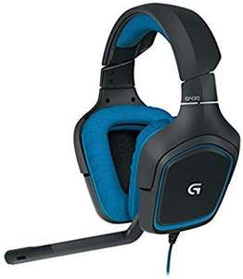 Logitech G430 Gaming Kopfhörer (Dolby 7.1 Surround Sound für PC ) blau [Amazon]