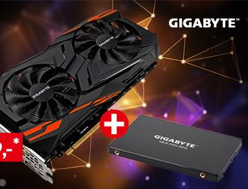GIGABYTE Radeon Vega 64 inkl. GIGABYTE SSD 480GB gratis