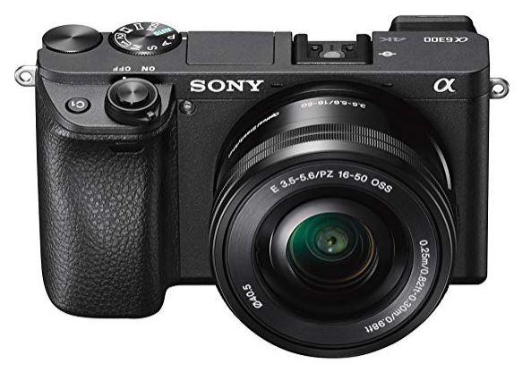 Sony Alpha 6300 E-Mount Systemkamera Schwarz mit 16-50 Objektiv