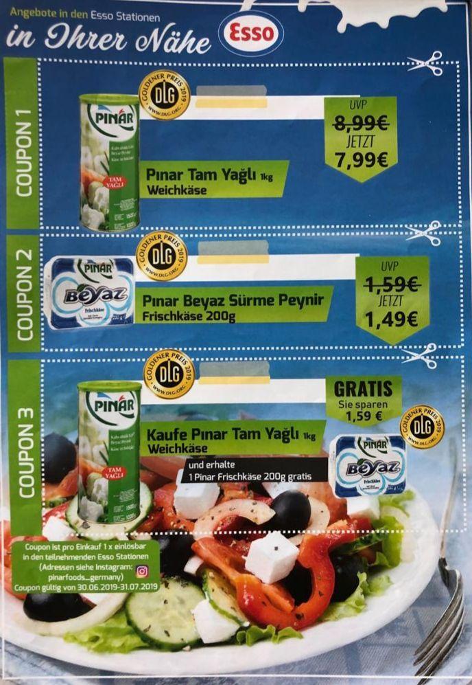 LOKAL ESSO Pinar Premium Weichkäse + Frischkäse in Aktion