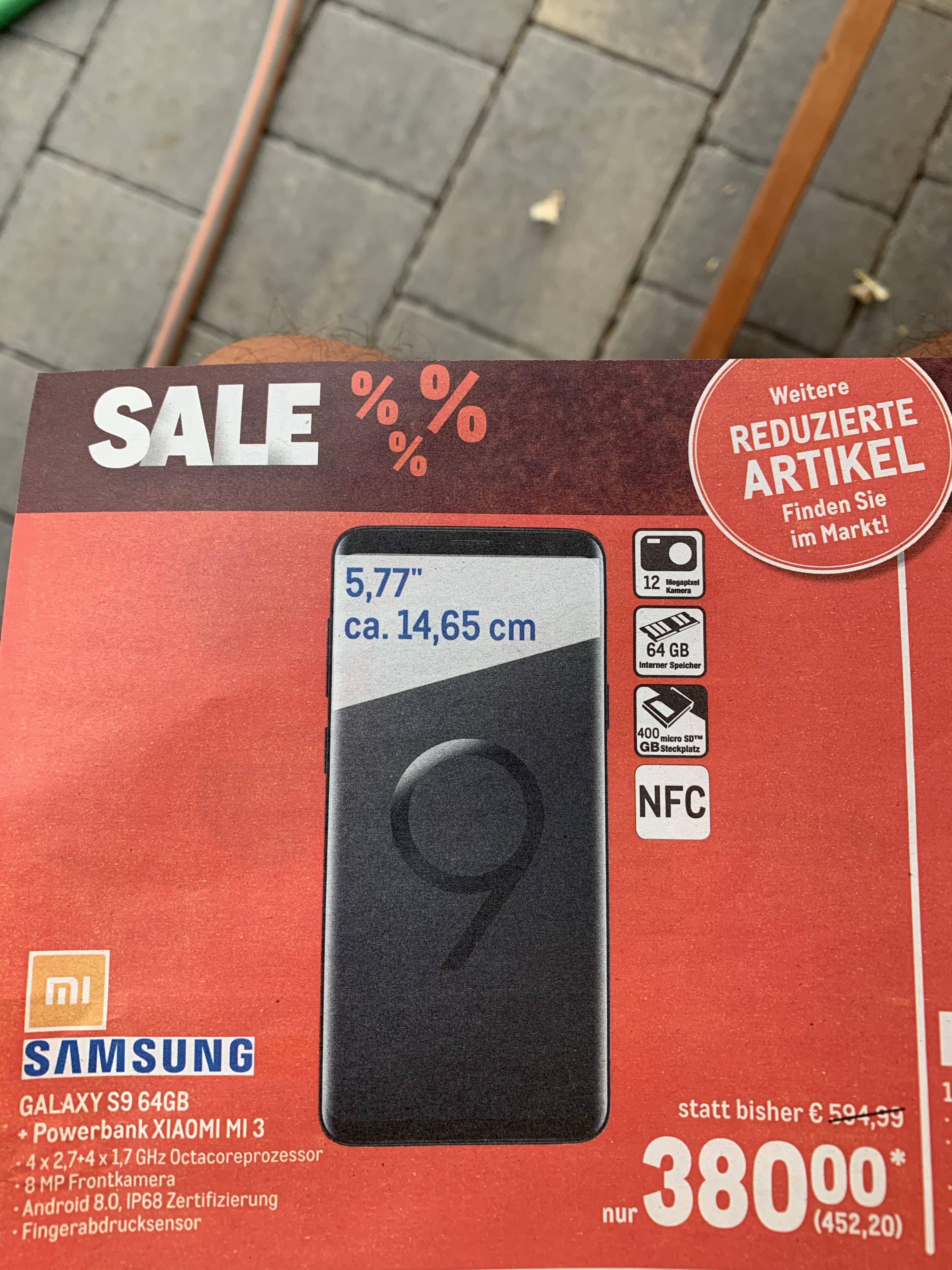 Sale in der Metro Samsung S9 64 GB plus Powerbank