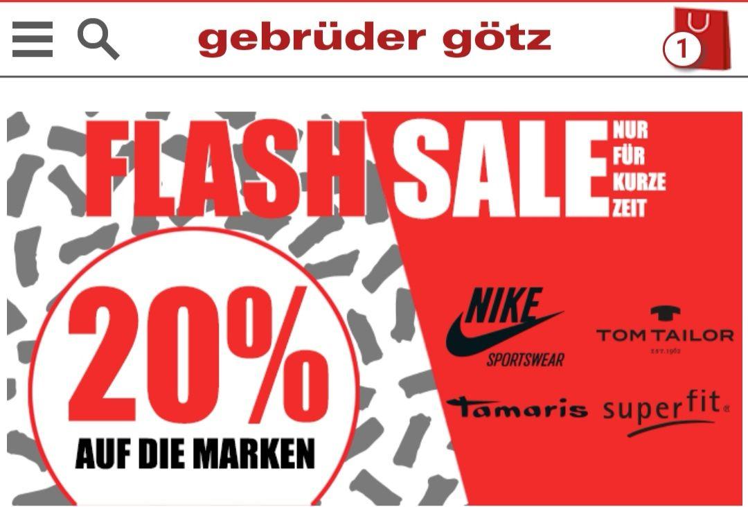 Flash-Sale 20% auf Nike, Tamaris, Tom Tailor, superfit - Schuhe