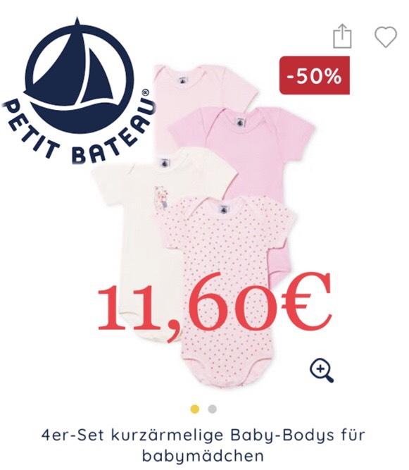 Petit Bateau - Baby- / Kinderkleidung Sale bis 50% + 20% on top