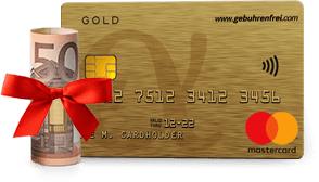 50€ Neukundenbonus für die Advanzia Mastercard GOLD bei Check24