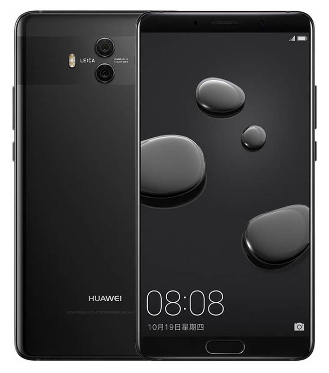 Huawei Mate 10 (5,9' QHD Display, Leica Dual-Kamera, Dual-SIM 4GB, 64GB, 8x 2,4 GHz Kirin 970, 4000 mAh) schwarz