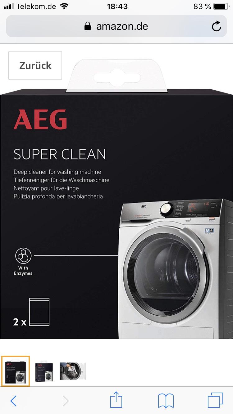 [Amazon Prime] AEG Waschmaschinen Reiniger