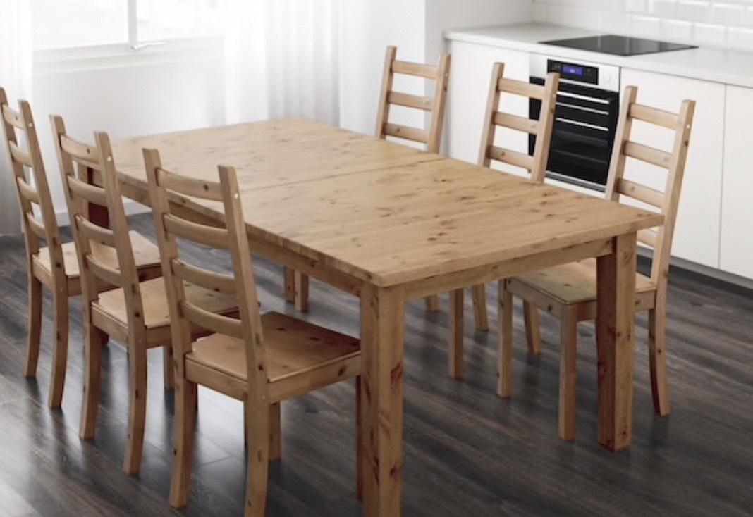 """Massivholz Tisch - """"Stornäs"""" auf fast 3m ausziehbar - im IKEA Ludwigsburg"""