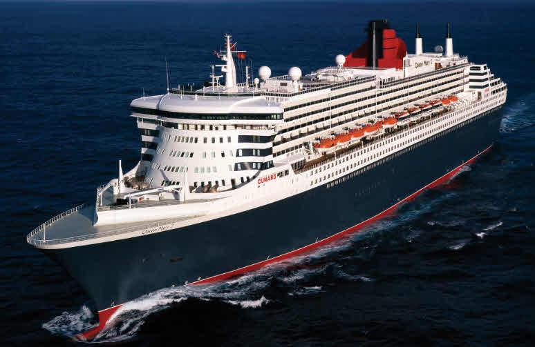 Queen Mary2  Fahrt für 2 Personen von England > New York am 19.11.19 Vollpension