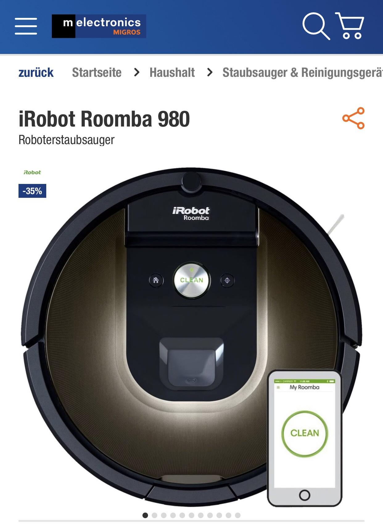 iRobot Roomba 980 Melectronic SCHWEIZ