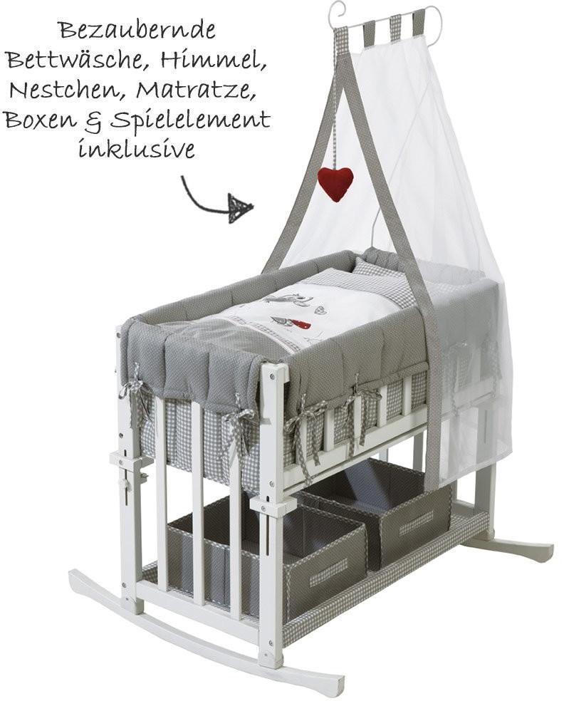 Roba Babysitter 4-in-1: Beistellbett, Babybett, Wiege & Kinderbank