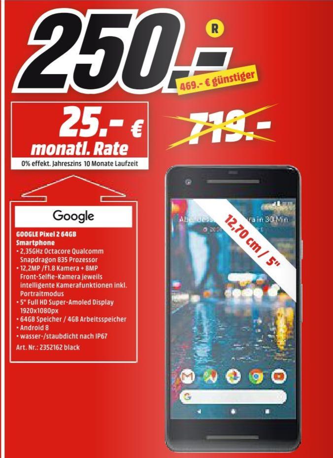 [Lokal: Media Markt Plauen]  Google Pixel 2 64GB just black (Neuware)