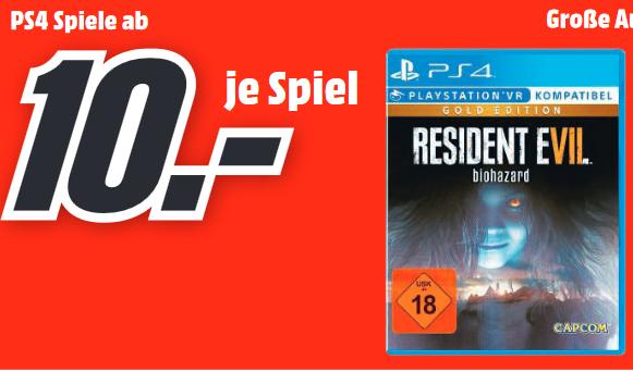 [Lokal: Media Märkte Schweinfurt, Bad Neustadt] Resident Evil 7: Biohazard Gold Edition (PS4) | Mass Effect:Andromeda Xbox One =4€