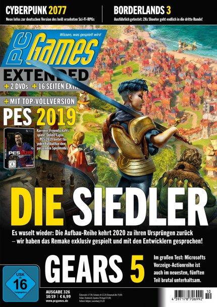 PCGames 10/19 mit Vollversion PES 2019 für 6,99 Euro