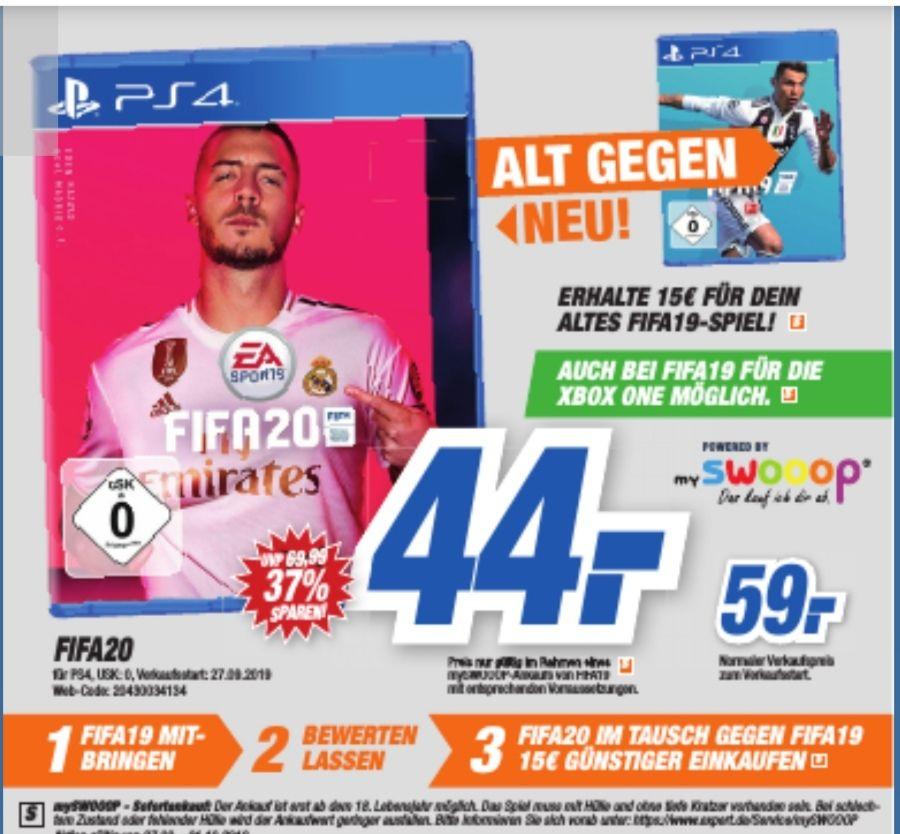[Expert HEM Filialen] FIFA 20(PS4 & Xbox One) für 44€ bei Abgabe von Fifa 19