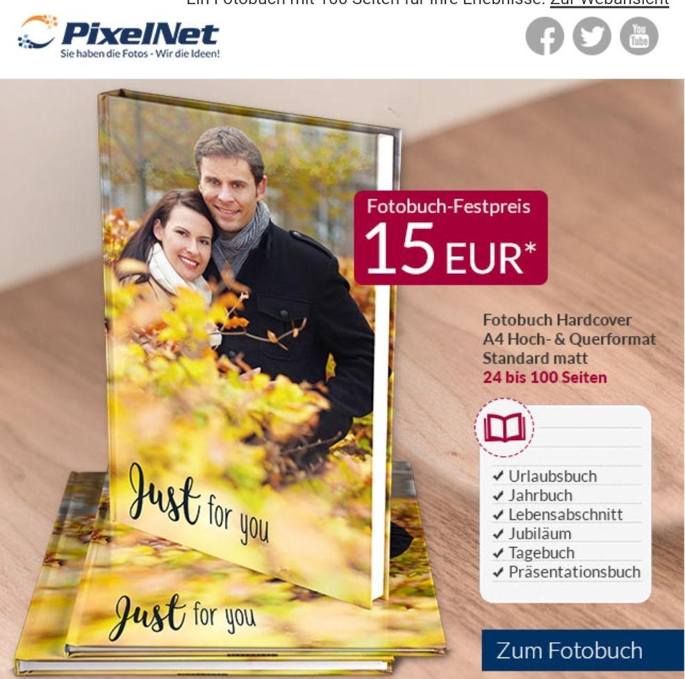 Fotobuch A4 bis 100Seiten bei Pixelnet