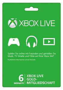 Xbox Live Gold – 6 Monate - Deal bei Gameladen.com