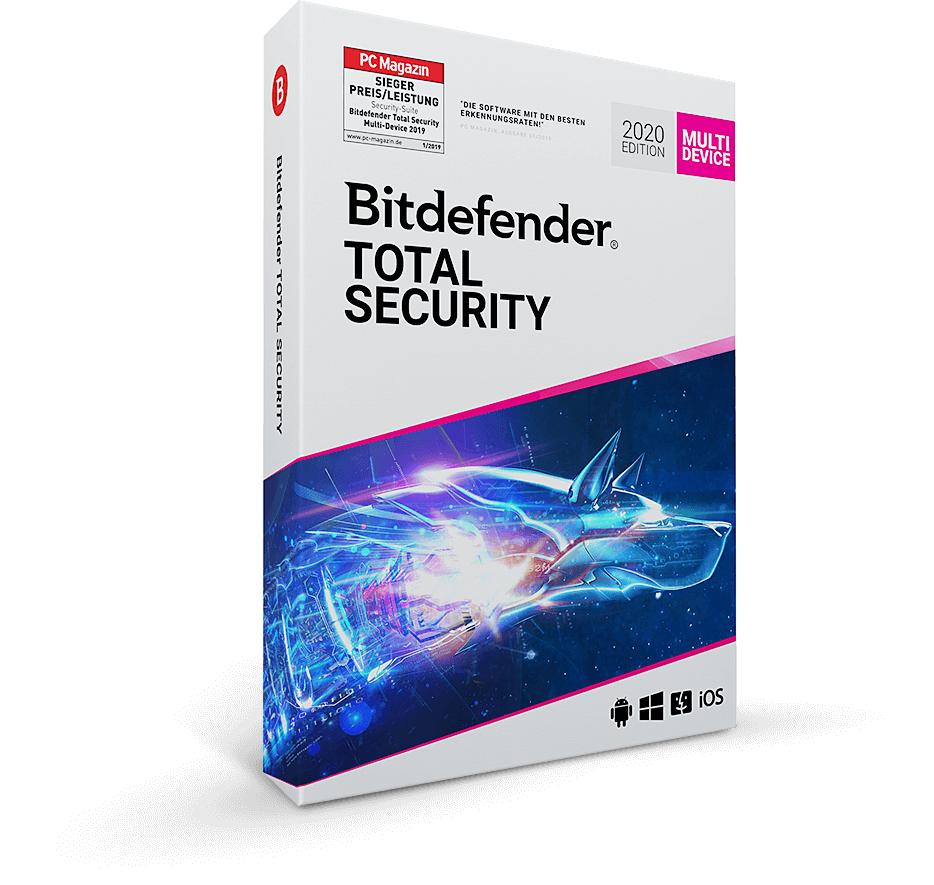 Bitdefender TOTAL SECURITY 2020 90 Tage kostenlos testen
