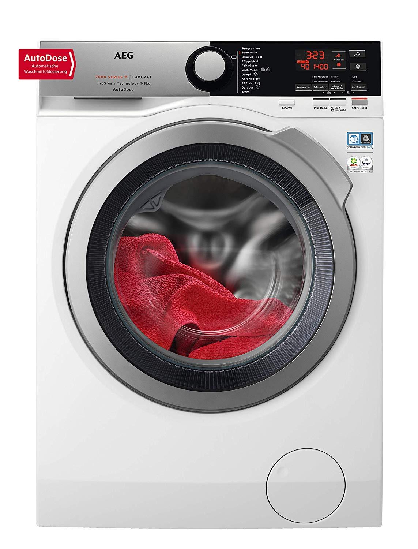 Waschmaschine AEG L7FE78695 WiFi, Auto Dosierung, Auffrischfunktion, 9,0 kg Füllmenge, Nachlegefunktion, 1600 U/min, Energieklasse A+++