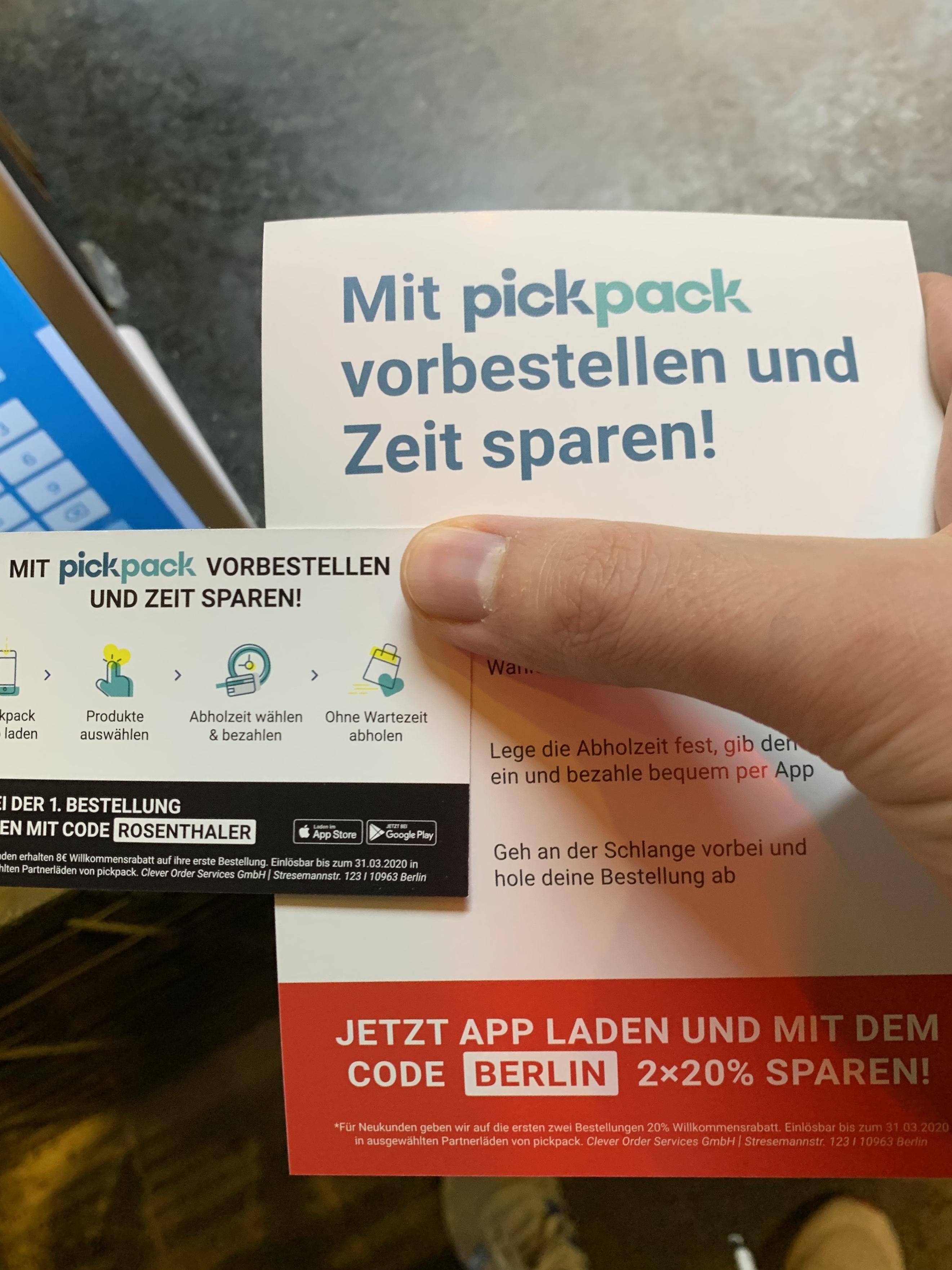[Berlin] 8€ Pickpack Gutschein für Neukunden
