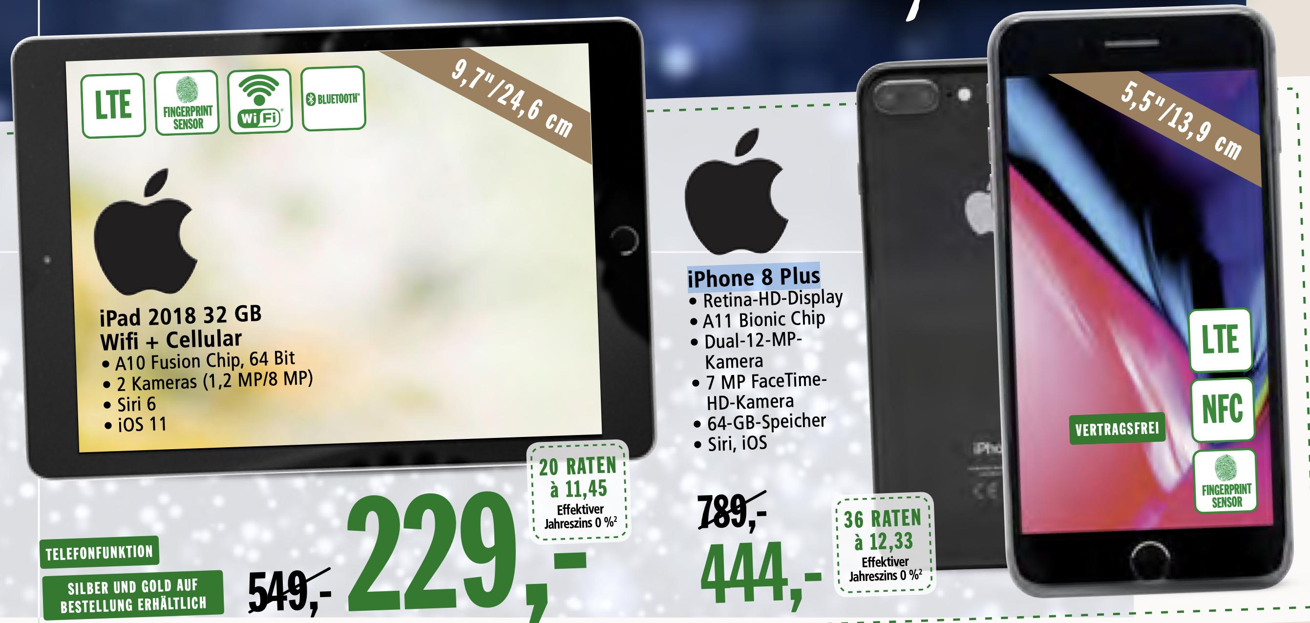 iPad 2018 WiFi/4G 32 GB Lokal: Real Neueröffnung Aschaffenburg  (sodastream 88 €, iPhone 8 Plus 444€)