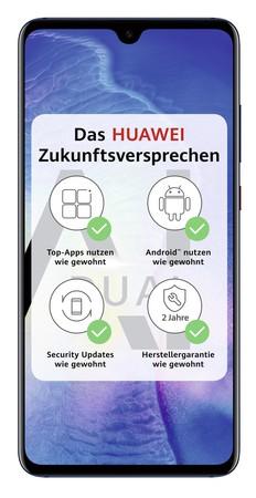 "[expert] Huawei Mate 20 Dual-SIM blau, 6,53"", 128 GB, Dual-SIM, 4.000-mAh, Octa-Core, Triple-Kamera"