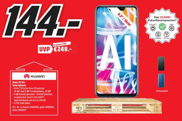 """[lokal: Media Markt Dietzenbach - nur am 25.10. + 26.10.] Huawei Mate 20 Lite - 6,3"""" Smartphone (NFC, USB-C, Android 9 für 144€"""
