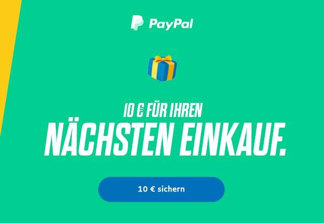 10 € geschenkt von PayPal.