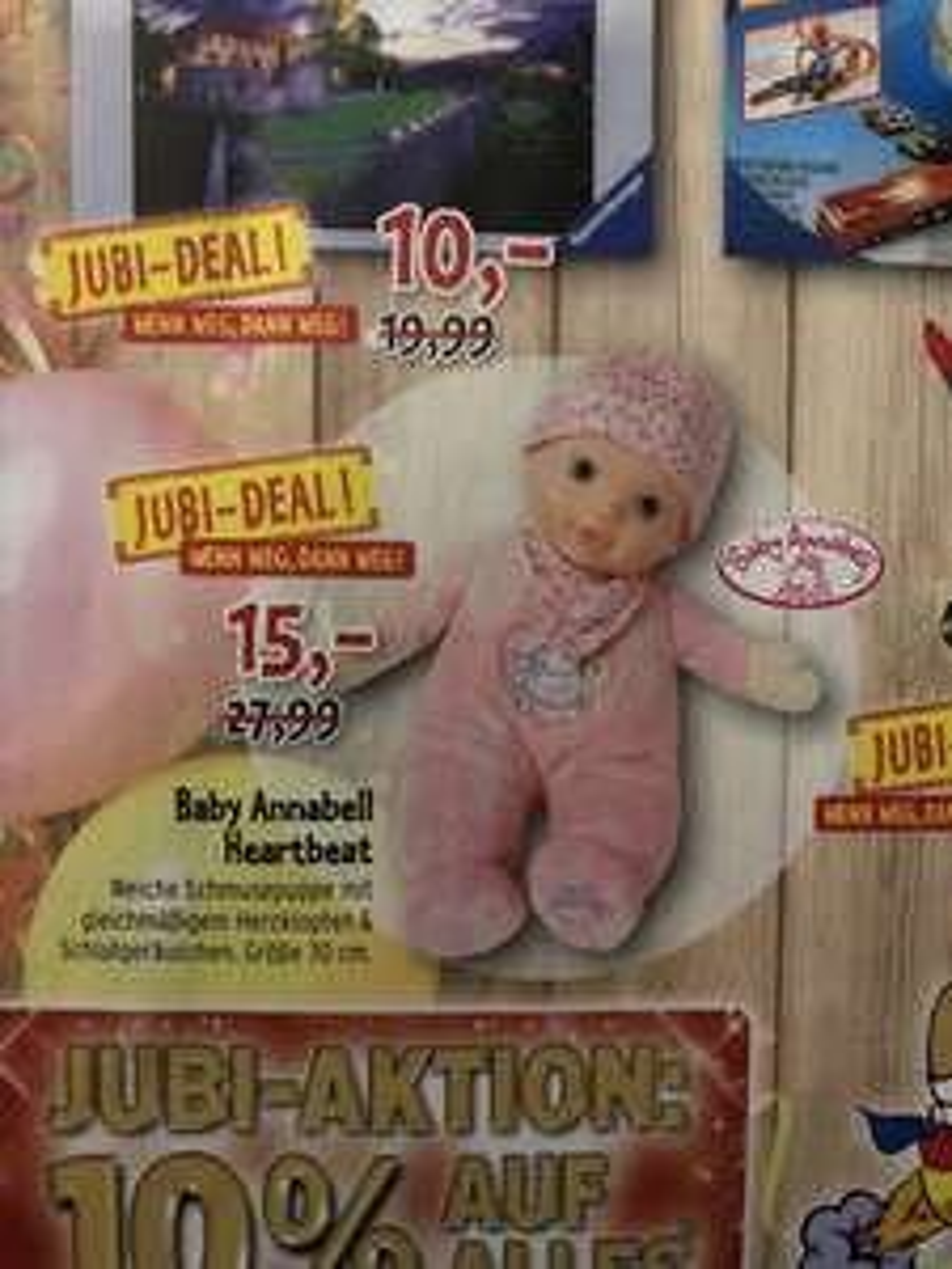 Teddy Toys 10% auf ALLES: z.B. Baby Annabell Heartbeat