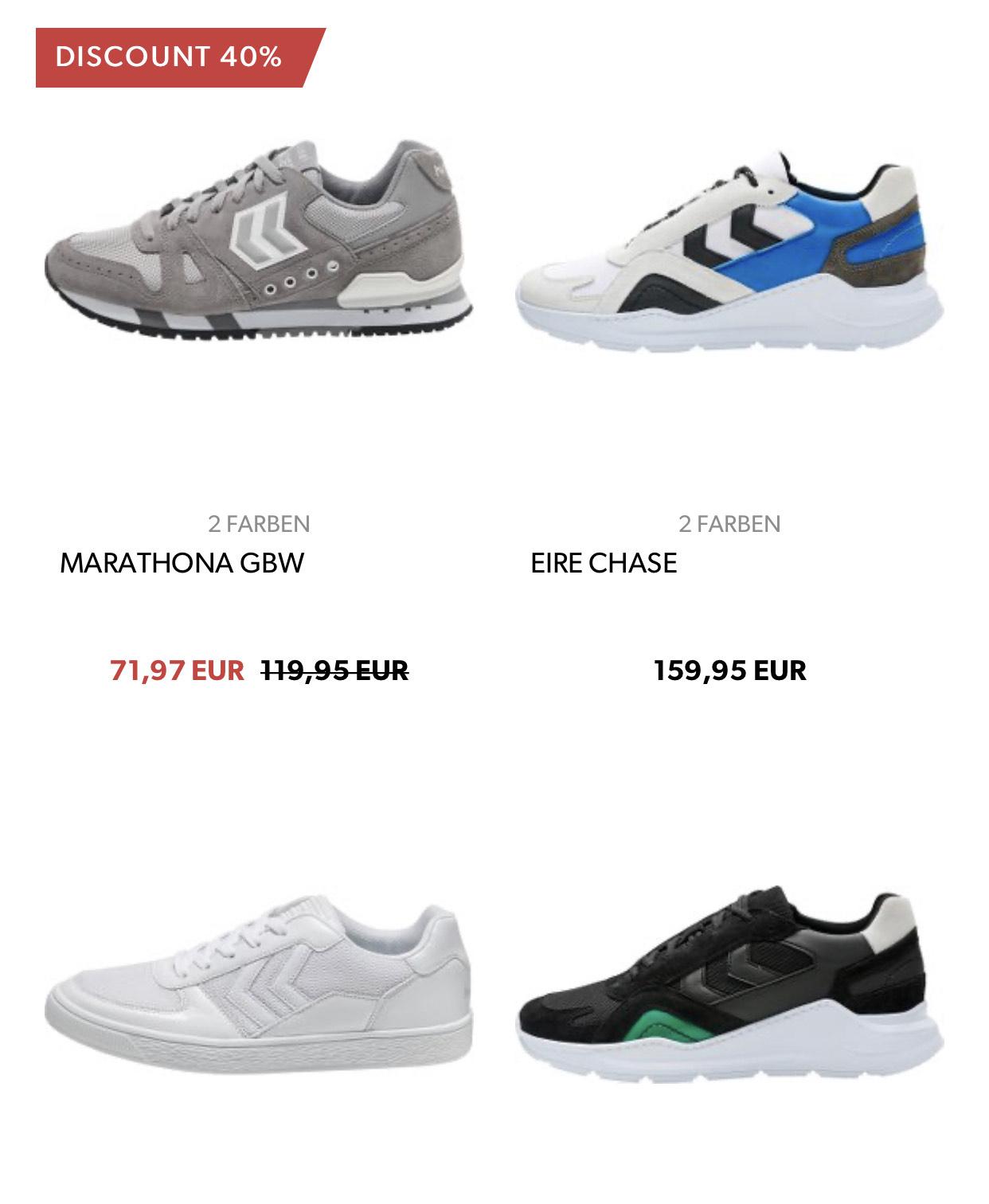 15€ Sparen beim Kauf von Hummel Sneaker/ Schuhe