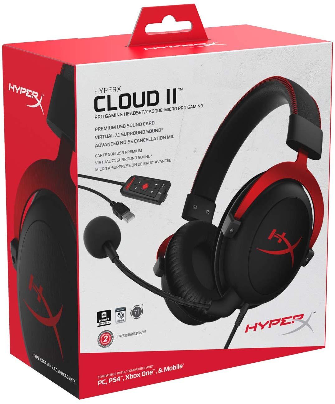 Kingston HyperX Cloud II Gaming Kopfhörer (PC/PS4/Xbox One/Mac) für 61,16€ (Amazon IT)