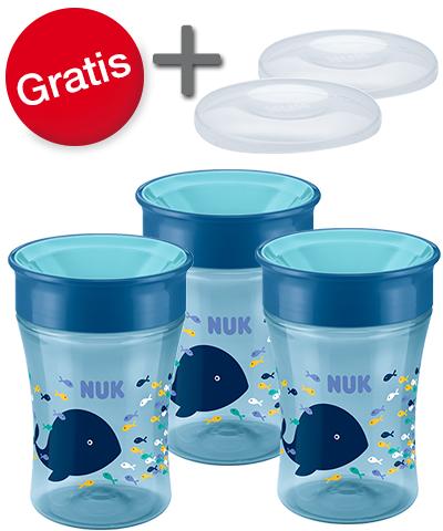 "NUK - 3er Set Magic Cup ""Wal"" [Stückpreis 6.31€! ]"